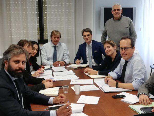 al centro il presidente Albano a destra il direttore amministrativo Galati